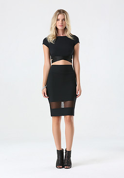 bebe Mesh Back Crop Top