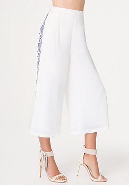 bebe Embroidered Culottes