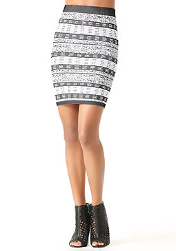 bebe Mix Jacquard Skirt