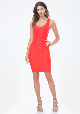 bebe Textured Sweetheart Dress