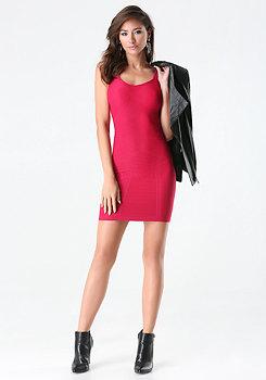bebe Textured Sweetheart Dress