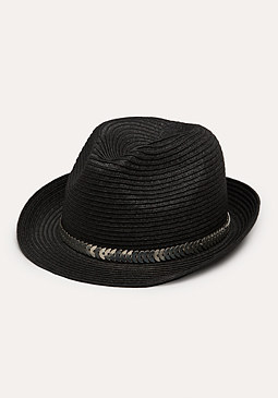 bebe Metal Trim Trilby