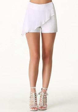 bebe Lauren Chiffon Drape Shorts