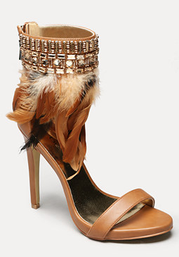 bebe Yvana Feather Sandals