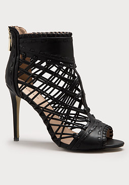 bebe Rylee Open Toe Booties