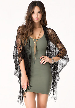 bebe Knot & Sequin Cover Up