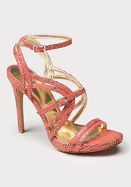 bebe Miliaa Faux Python Sandals