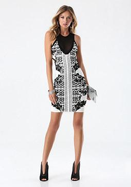 bebe Burnout Velvet Knit Dress