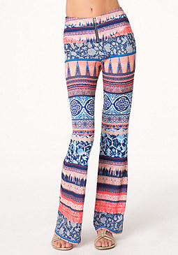 bebe Petite Flared Leg Pants