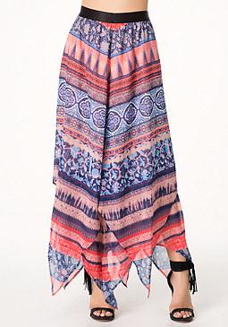 bebe Petite Handkerchief Skirt