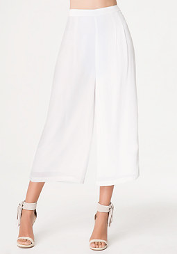 bebe Petite Embroidered Culottes