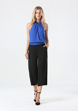bebe Draped Neck Top