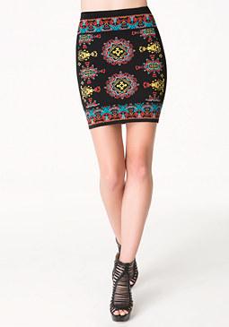 bebe Lantern Jacquard Skirt