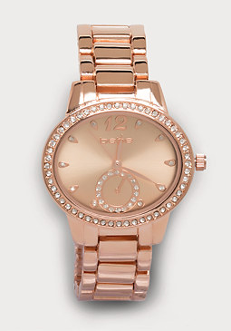 bebe Oval Link Watch