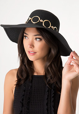 bebe Circle & Jewel Floppy Hat