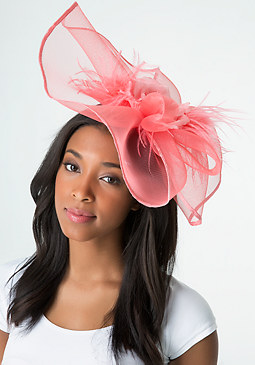 bebe Flower & Feather Fascinator