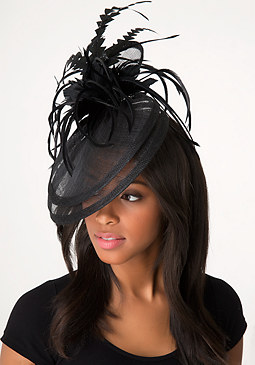 bebe Black Feather Fascinator