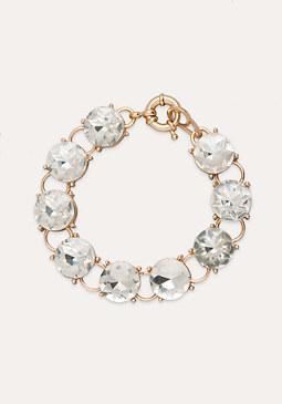 Crystal Clasp Bracelet at bebe