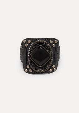 bebe Square Stone Bracelet