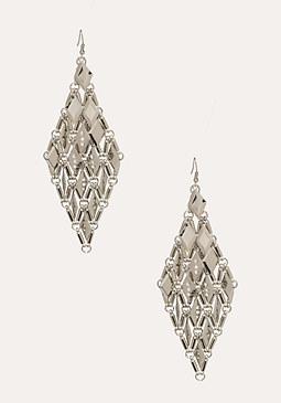 bebe Diamond Shaped Earrings