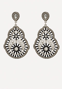 bebe Filigree & Crystal Earrings