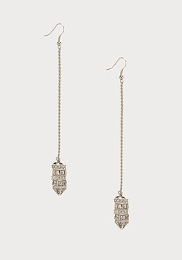 bebe Long Chain Duster Earrings