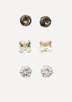 bebe Crystal Stud Earring Set