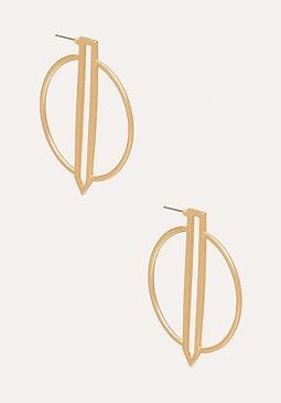 bebe Modern Cutout Earrings