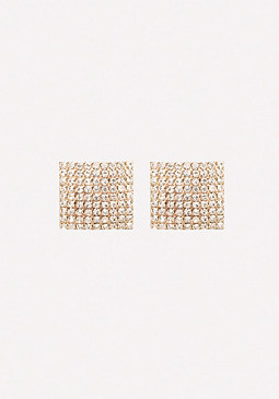 bebe Square Pave Earrings