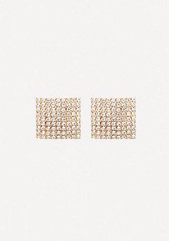 bebe Square Pave Earrings