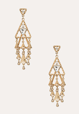 bebe Geometric Layered Earrings