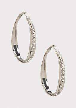 bebe Crisscross Hoop Earrings