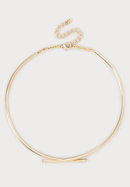 bebe Overlapping Collar Necklace