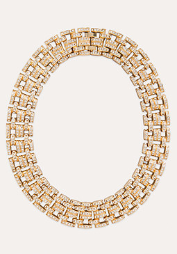 Glitzy Link Clasp Necklace at bebe
