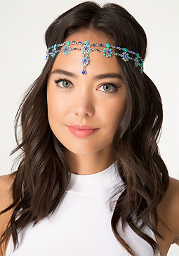 bebe Allover Flower Headchain