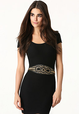 bebe Beaded Stretch Belt