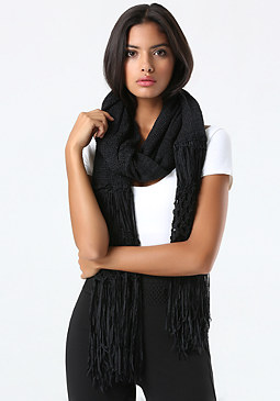 bebe Tape Yarn Fringe Wrap