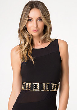 bebe Metal Link Stretch Belt