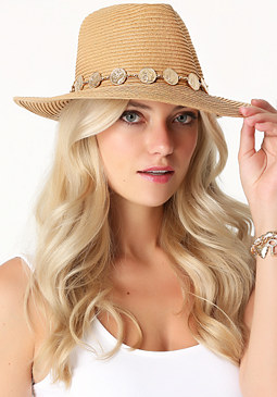 bebe Coin Band Panama Hat