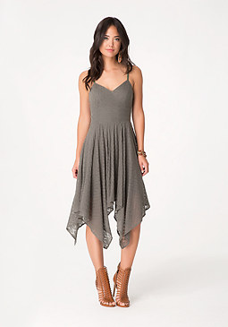 bebe Petite Flame Stitch Dress