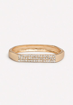 bebe Crystal Bar Hinge Bracelet
