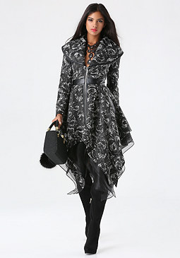 bebe Anastasia Layered Coat