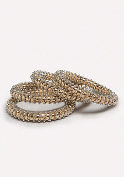 bebe Bead Wrapped Bangle Set