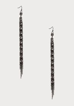 bebe Linear Crystal Earrings