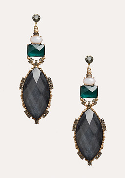bebe Faceted Stone Earrings