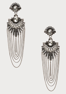 bebe Crystal Fan Earrings