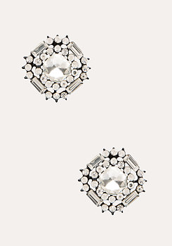 bebe Large Crystal Stud Earrings