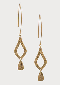 bebe Textured Drop Earrings