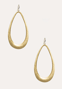 bebe Matte Teardrop Earrings