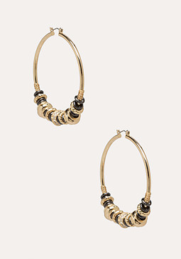bebe Rondelle Hoop Earrings